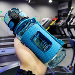 Sport Water Bottles Portable Gym anti-fall Leak-proof large Capacity fitness Kettle Tritan Plastic Drink bottle BPA Free