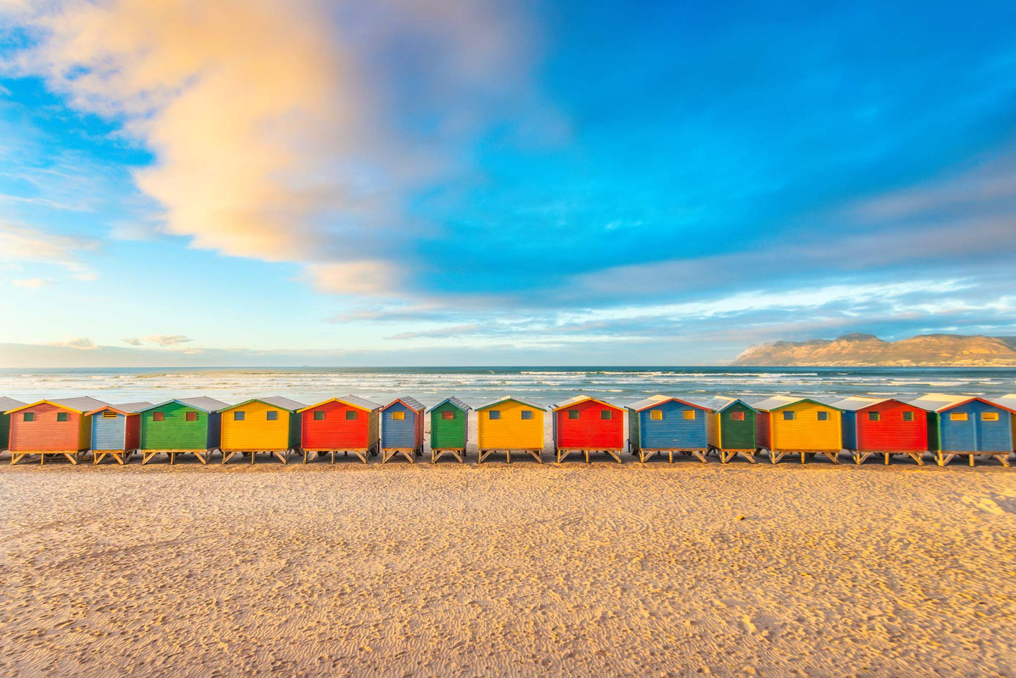 Surfer Huts in Muizenberg