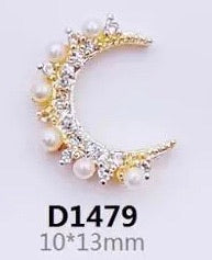 Zirconia Moon/Star 3D Charms