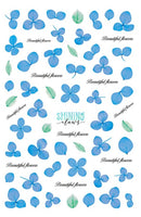 Blue Petal Stick-Ons