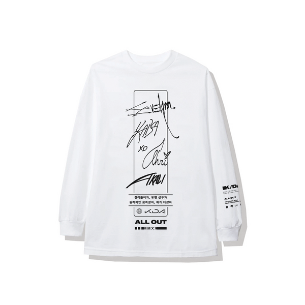 KDA Signature Long Sleeve - White