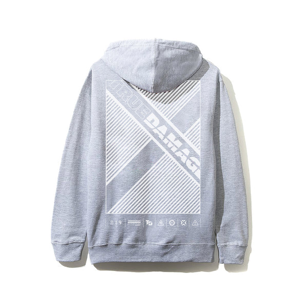 "True Damage ""X"" Grey Hoodie"