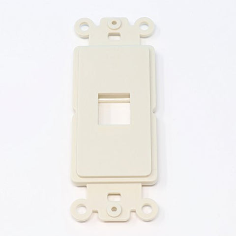 RiteAV Light Almond Blank 1 Port Modular Insert for Keystone Jacks