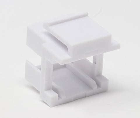 RiteAV Fiber Keystone Jack Square White SM DX Adapter