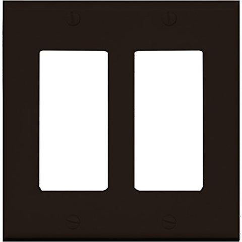 RiteAV Blank Wall Plate for Keystone Jacks - Gray 2 Gang Decorative