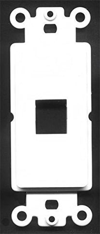 RiteAV - 1 Port Insert for Decorative Wall Plate White