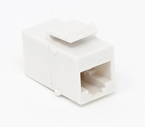 RiteAV Cat5E Ethernet Keystone Jack Coupler Female to Female White