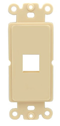 RiteAV IVORY Blank 1 Port Modular Insert for Keystone Jacks