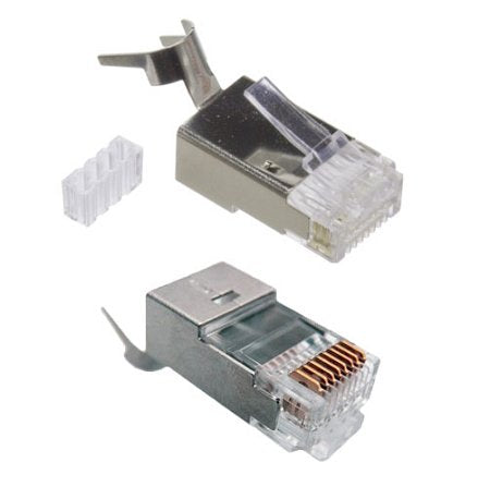 RiteAV - 23 AWG Shielded CAT 6 Solid Terminating Crimp Ends Designed for Direct Burial Cable (10 Pack)