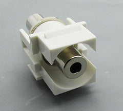 3.5MM KEYSTONE COUPLER 1/8 HEADPHONE JACK FEMALE TO FEMALE