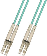 1M 3mm Multimode Duplex 10 Gigabit Fiber Optic Cable (50/125) - LC to LC