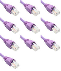 3 Ft (3ft) Cat6 Ethernet Network Patch Cable RJ45 (10 Pack) Purple