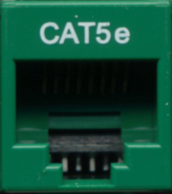 Cat5e Punchdown Keystone - Green