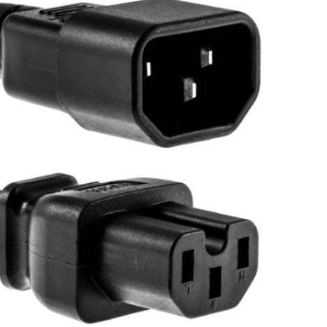 RiteAV Data Center Power Cord, IEC320 C14/IEC320 C15,  14 AWG, 15A, 250V