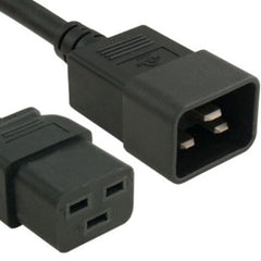 RiteAV Power Extension Cord, IEC320 C19/IEC320 C20, 14 AWG, 15A, 250V