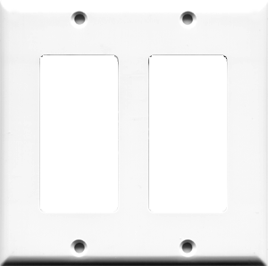 Custom 2 Gang Decorative Style Wall Plate
