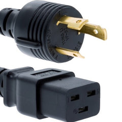 RiteAV Heavy Duty Locking Power Cord, L6-30P/IEC320 C19, 12 AWG, 20A, 250V