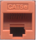 Cat5e Punchdown Keystone - Orange