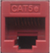 Cat5e Punchdown Keystone - Red