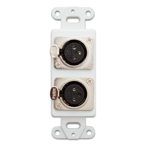 Decorative Wall Plate Insert, Dual XLR Female to Solder Type