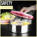 Foldable Splash-Proof Food Microwave Cover