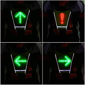 LED Bicycle Safety Vest With Turn Signals