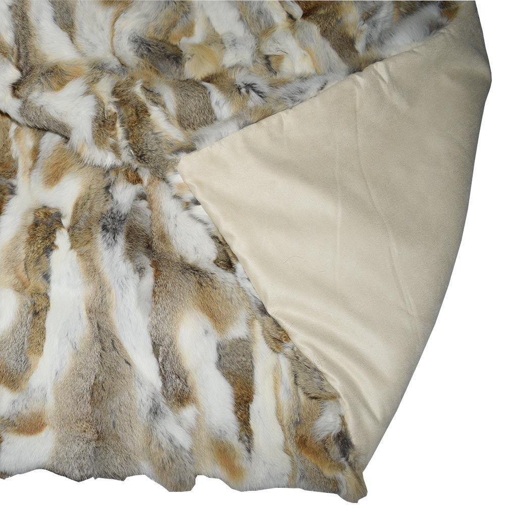 Snow Queen Rabbit Fur Throw Luxury Blanket