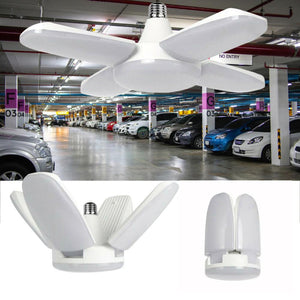 Fan Blade Foldable Garage LED Light