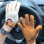 Driving Gloves | Brown Leather Driving Gloves