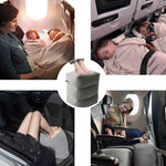 Fast-Inflated Travel Foot Pillow