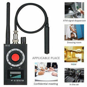 RF Signal detector Anti-spy Detector Camera K18 GSM Audio Bug Finder