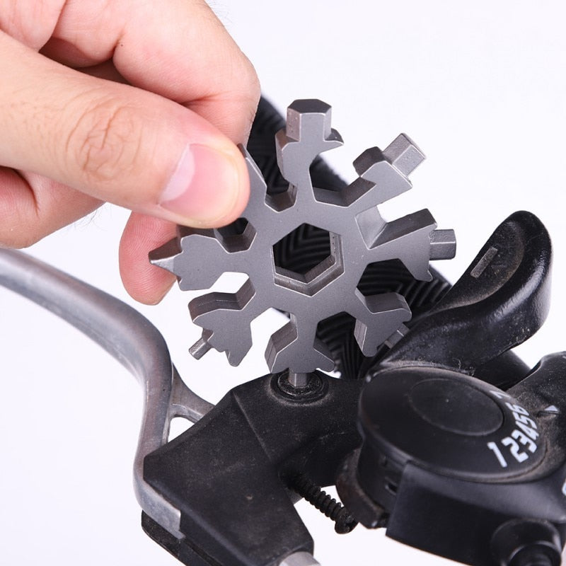 18-in-1 Stainless Steel Snowflakes Multi-Tool | Multifunction Screwdriver