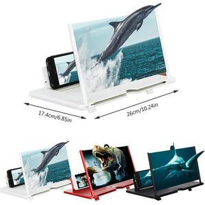 HD Mobile Phone Screen Amplifier | 3D Screen Video Magnifying Bracket