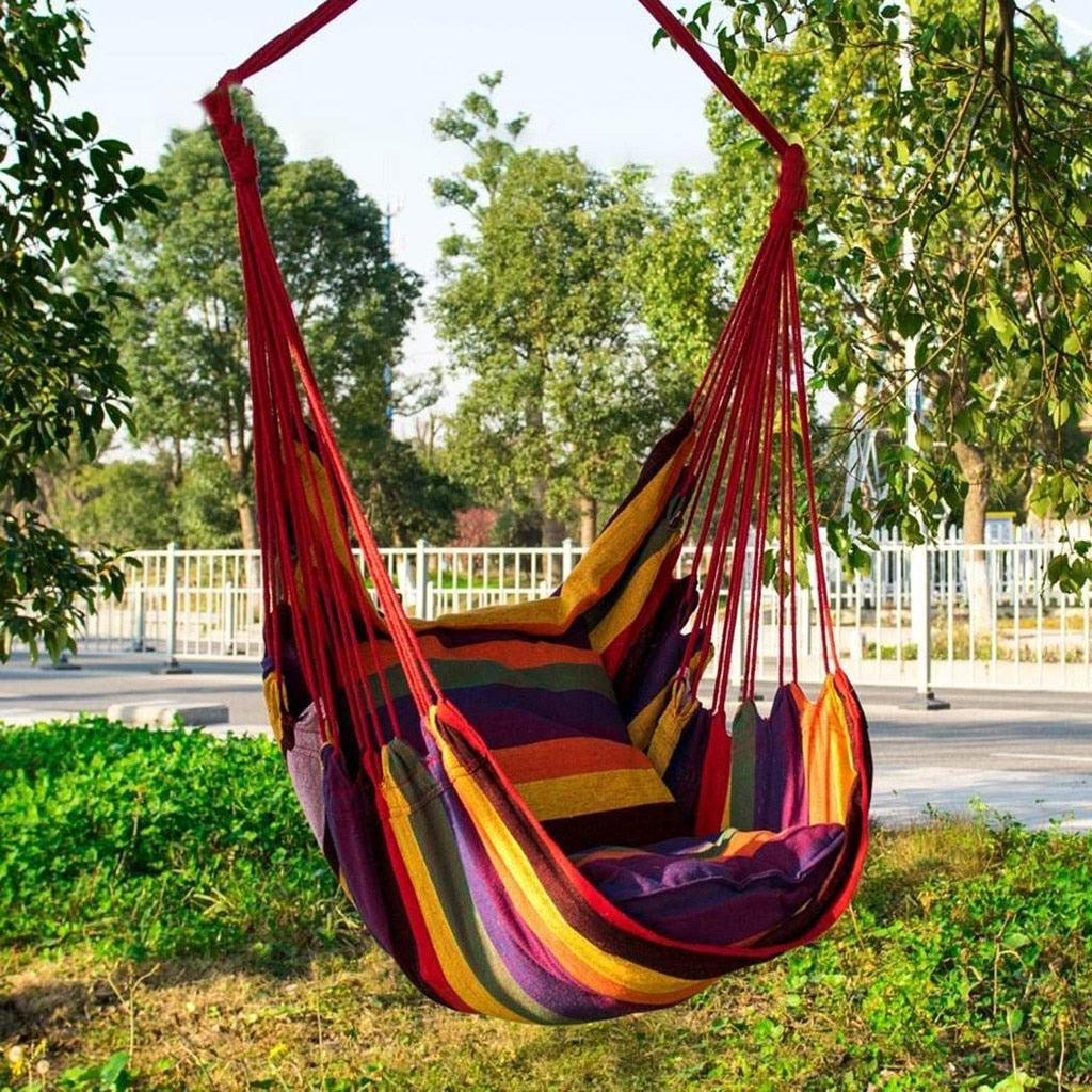 Colourful Hanging Fabric Hammock Swinging Chair