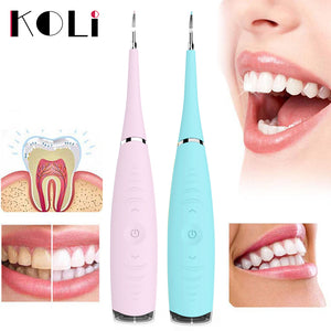 KOLI Recharge Sonic Dental Scaler Tooth Calculus Remover Tooth Stains Tartar Cleaner Tool Whiten Teeth Dropshipping