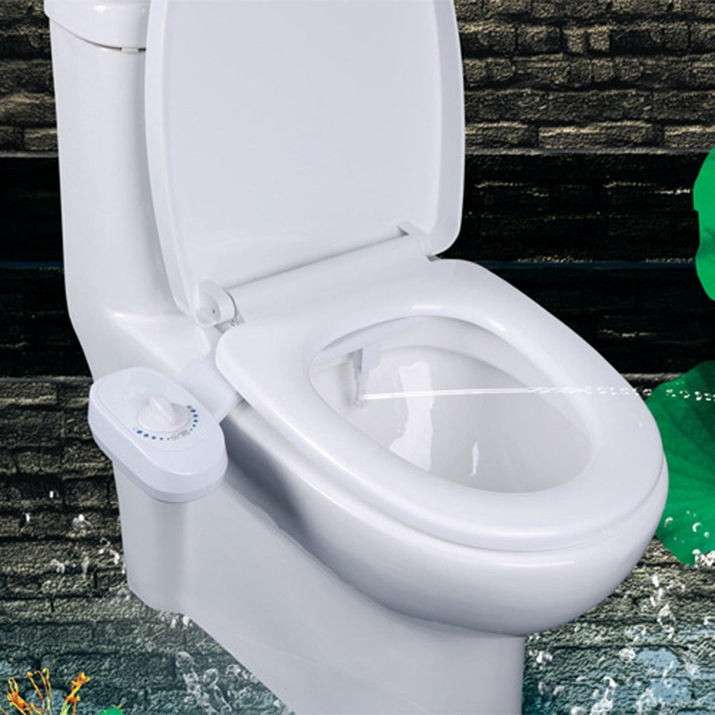 Power-Free Toilet Bidet Attachment