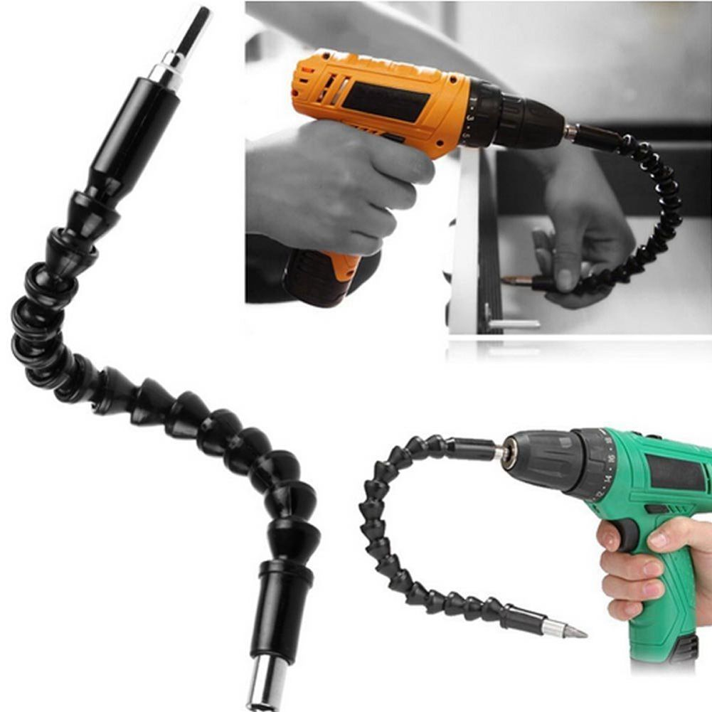 Universal Flexible Drill Bit Extension with Screw Drill Bit Holder