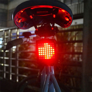 LED Bicycle Wireless Turn Light Indicator Taillight