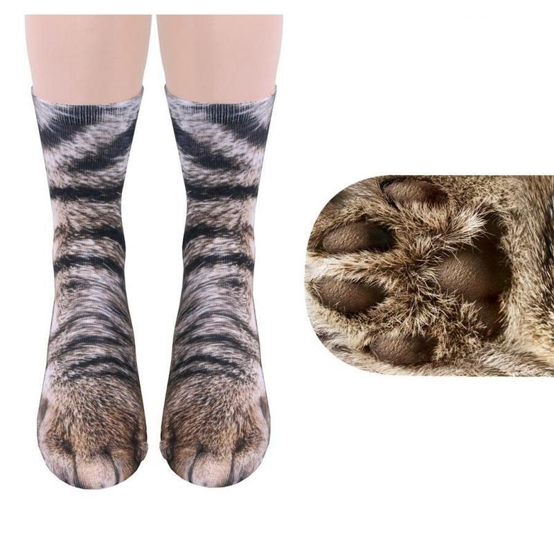 3D HD Print Cat Paw Socks