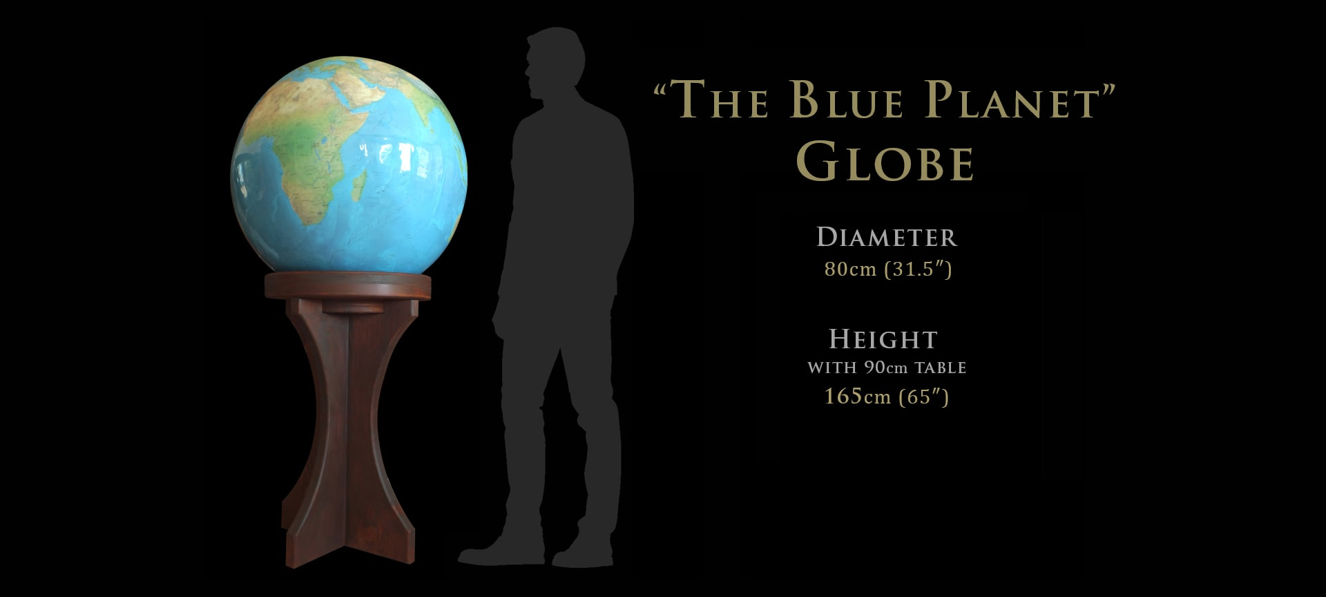 custom large world globes with unique maps and colors
