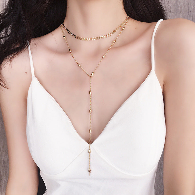 Double Layer Necklace with Choker