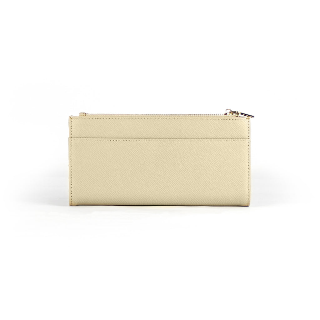 AVA Snap Button Wallet with Leather Wristband - Cream Beige | AVA 长皮夹(附手腕带)- 奶油杏