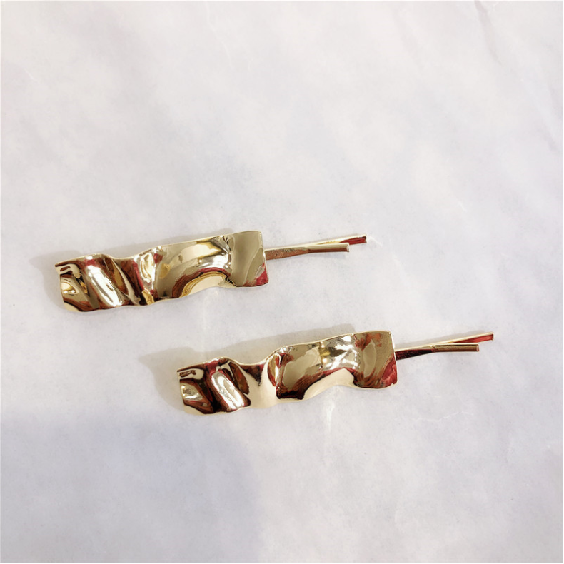 Gold Plated Waving Hair Pin