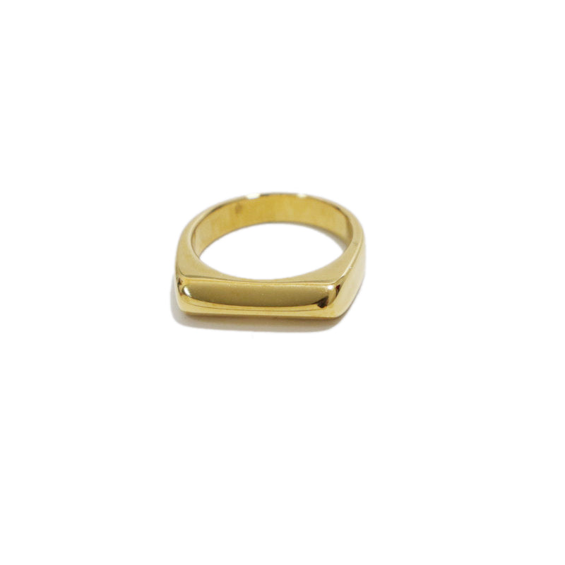 Gold Plated Edge Shaped Ring