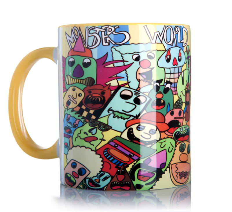 Ceramic Printed Coffee Mug (Monsters World)