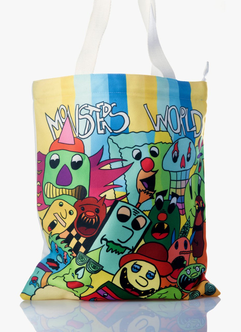 Canvas Tote Bags for Women (Monsters World)