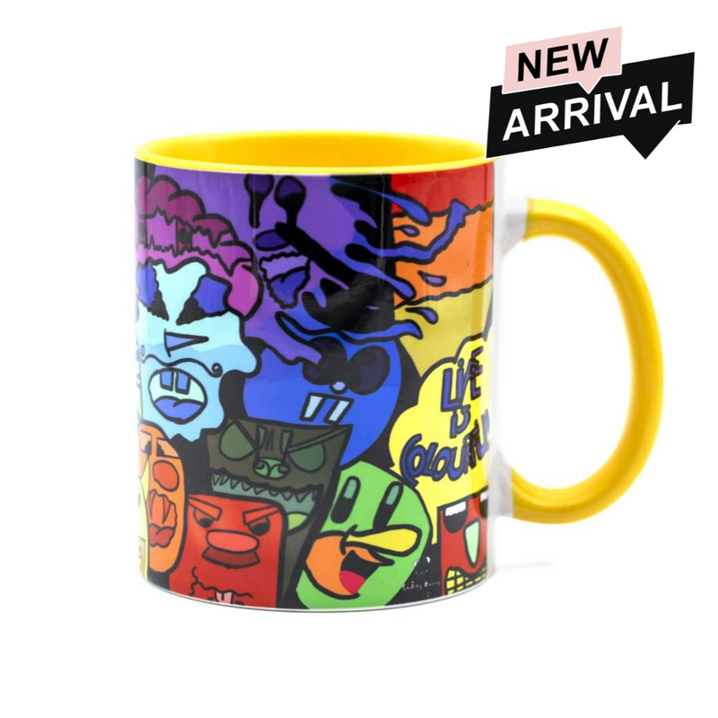Ceramic Printed Coffee Mug (Life is Colorful)