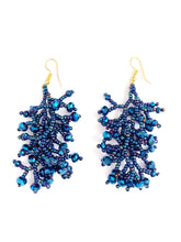 Load image into Gallery viewer, Blue Grape Earrings