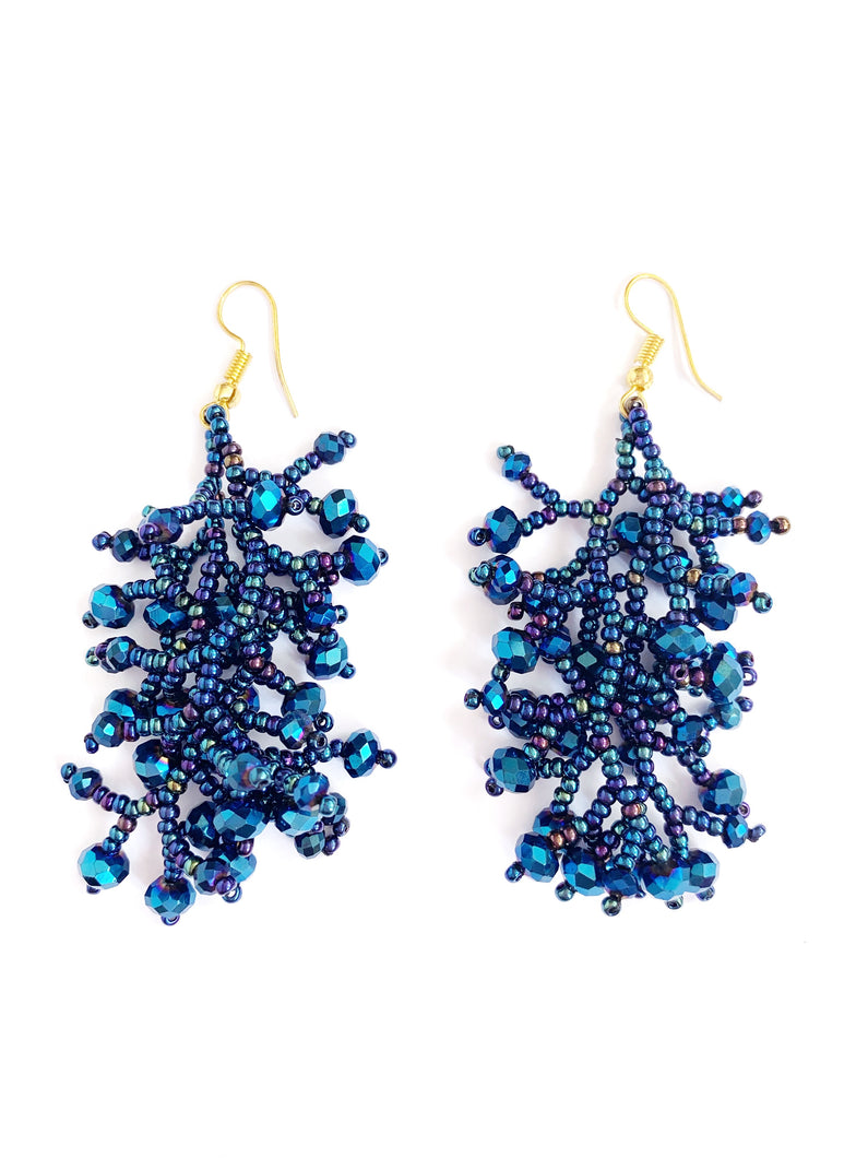 Blue Grape Earrings