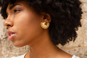 Model wearing Marsel Gorgona Earrings